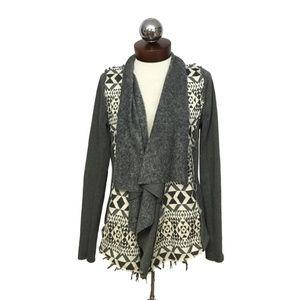 ANAMA open front sweater jacket fleece M
